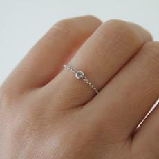 DAISY White Gold North Star Diamond Chain Ring