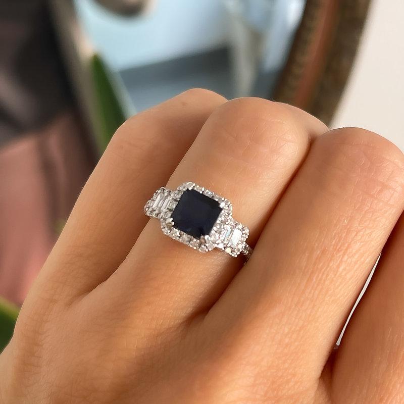 BARDOT White Gold Sapphire and Diamond Suraya Ring