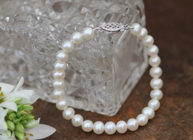 Leather and Pearl Bracelets