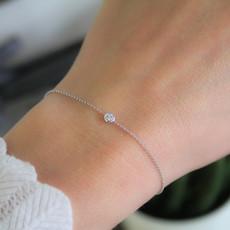 DAISY White Gold North Star Diamond Bracelet