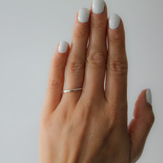 DAISY Silver Sheen Stacking Ring