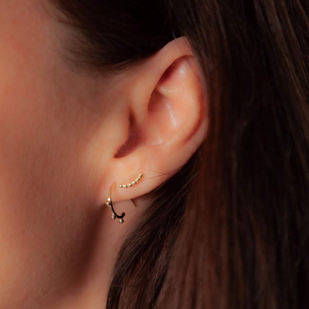 BOHO Gold Lilly Climber Beads Earrings