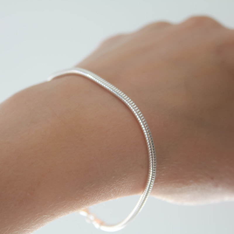 MADISON Silver Snake Chain Bracelet