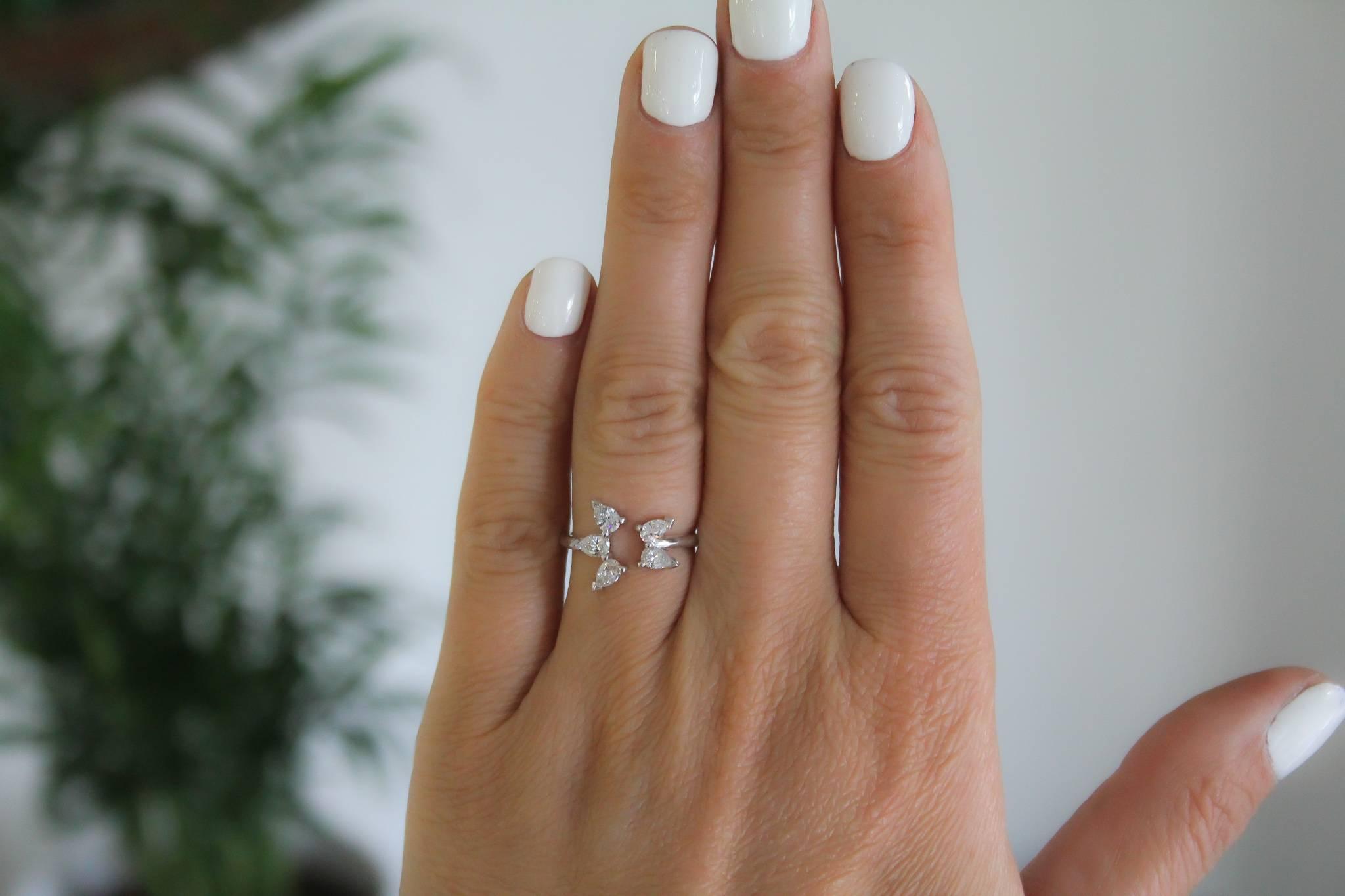 Delicate Golden Diamond Rings