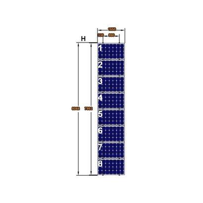 ClickFit EVO Complete Montageset 8 Panelen Landscape op Verticale rails
