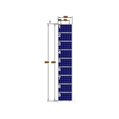 ClickFit EVO Complete Montageset 9 Panelen Landscape op Verticale rails