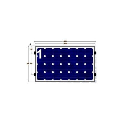 ClickFit EVO Complete Montageset 1 Paneel Landscape op Horizontale rails