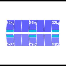 Solarstell Connect Montageset Oost/West Portrait 14 panelen 972-1080MM