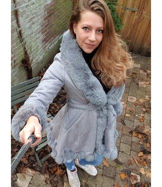 Zac & Zoé Skater coat grijs