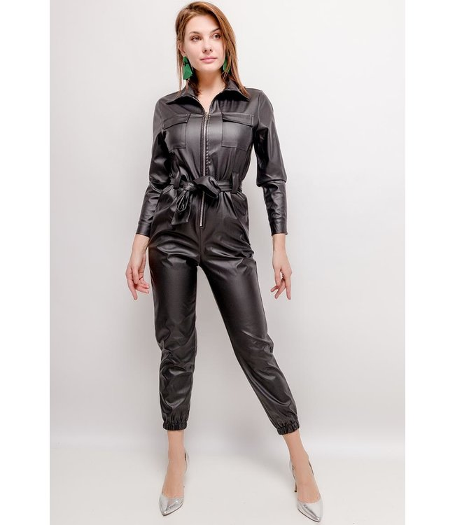 In Vogue Fake Leather jumpsuit