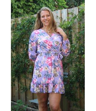 Italy Moda Ruffle dress paars