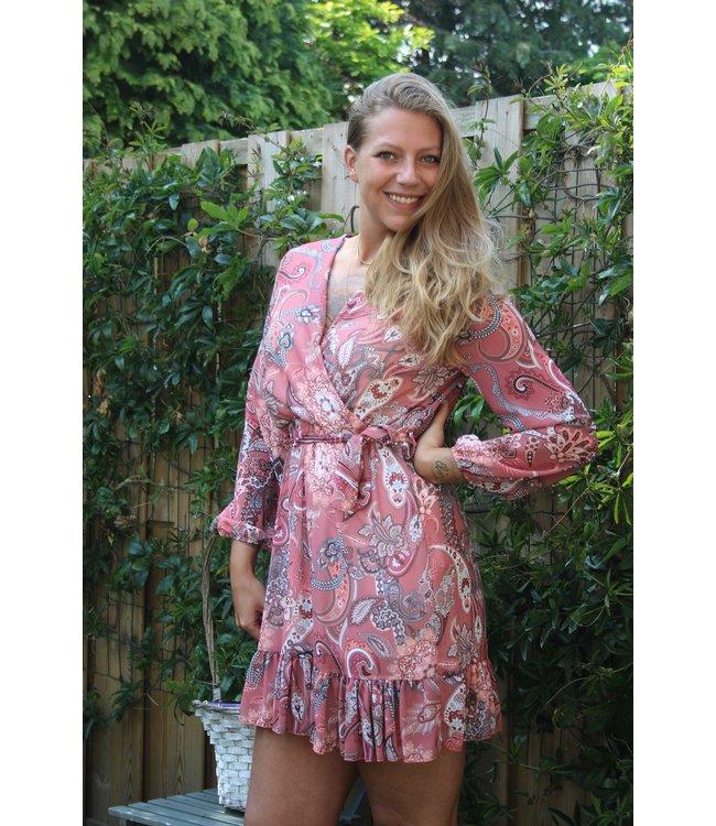 Italy Moda Pink lady dress