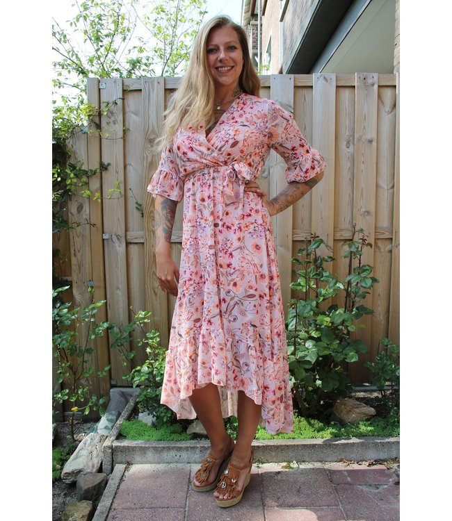Capucine Lined Poppy Dress Vanda oud roze