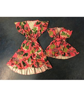 Fashion Addict Mommy & Me sunny flower roze OP=OP