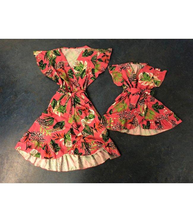 Fashion Addict Mommy & Me sunny flower roze OP=OP