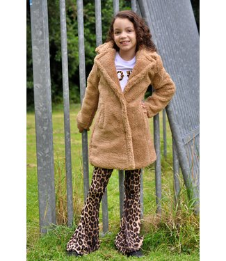 Kids Star Teddy coat camel