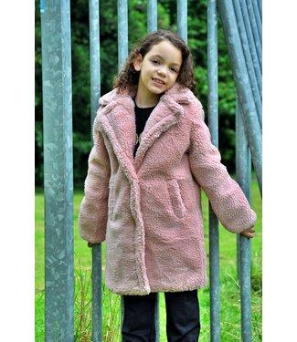 Kids Star Teddy coat roze