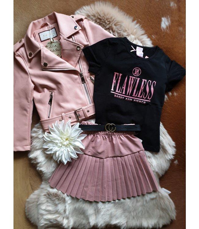 Kids Star Biker jacket Rosalie roze