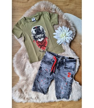 Zero Jeans Shirt Harley Cat