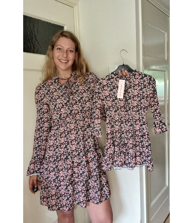 New Collection Mommy & Me dress bloem