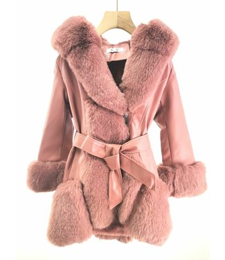 YoyoS pre order | Fake fur Fab coat pink