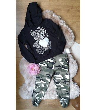 New Collection Littl Bear set zwart