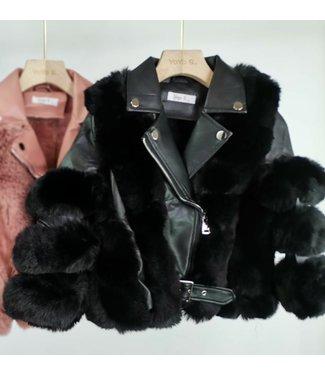 YoyoS Ultimate fluffy jacket black