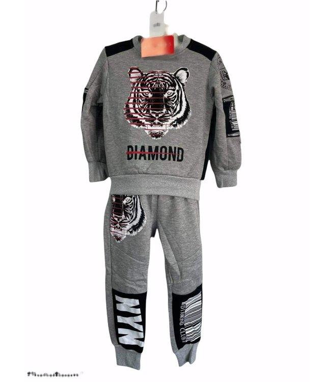 Comfy set Diamond grijs