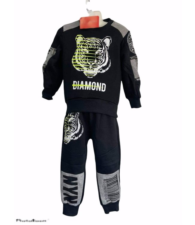 Comfy set Diamond zwart