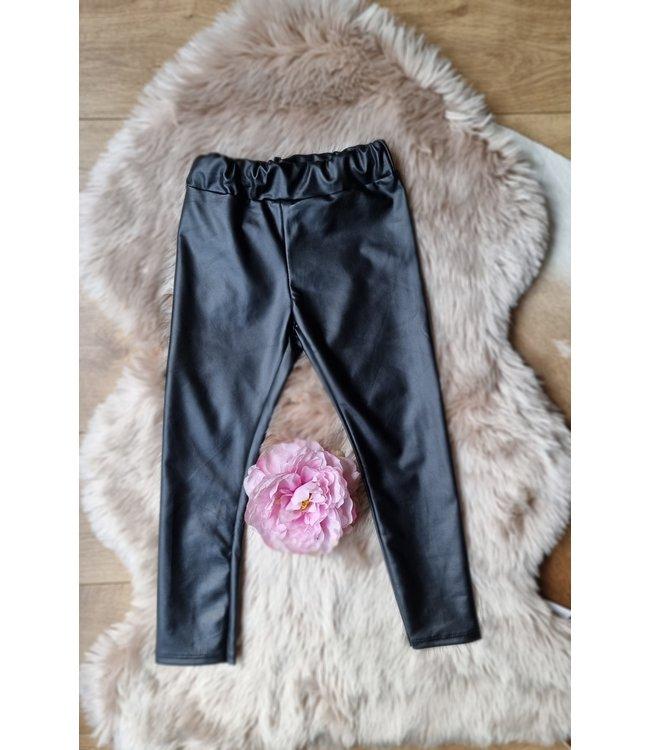 New Collection Leatherlook legging zwart