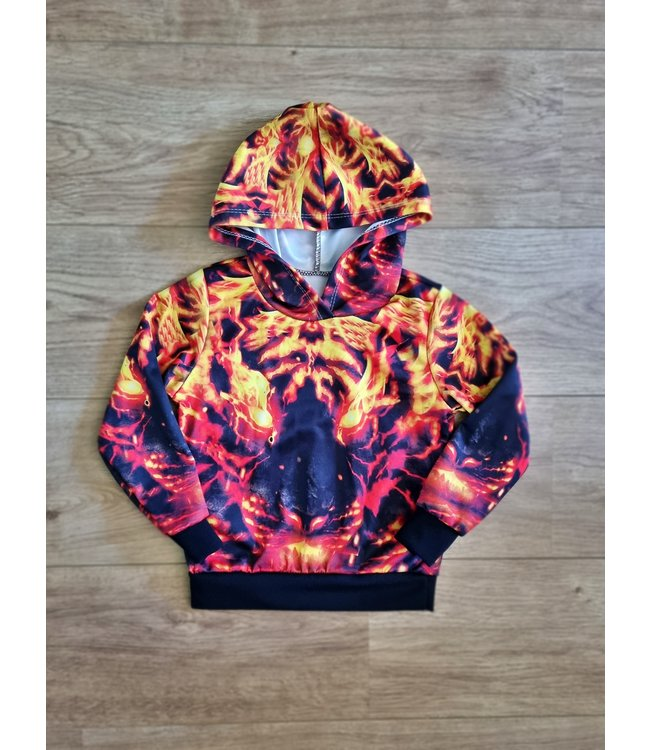 Tiger on fire sweater