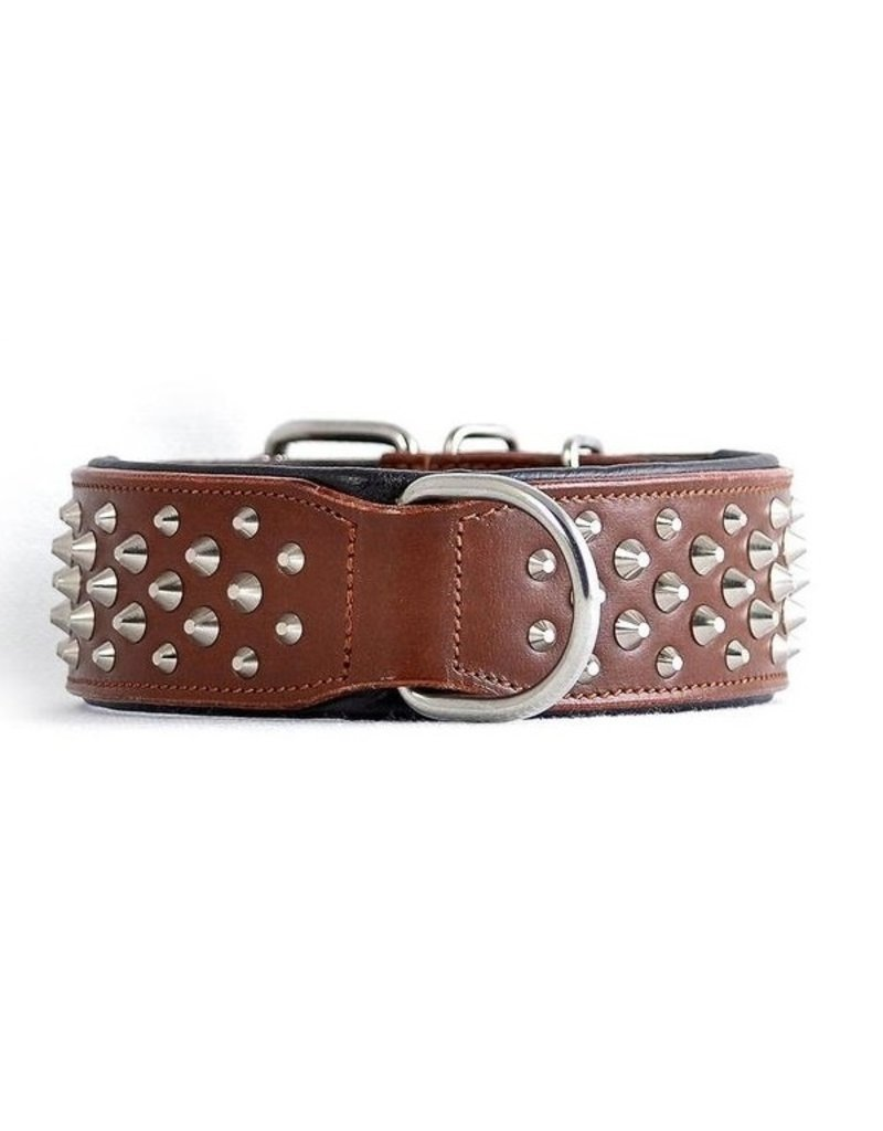 Rogue Royalty Rogue Royalty lederen halsband Ruffneck Brown