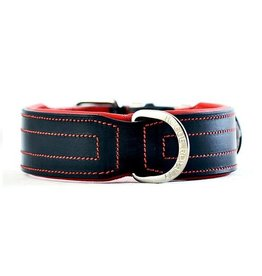 Rogue Royalty Rogue Royalty lederen halsband Classic zwart/rood