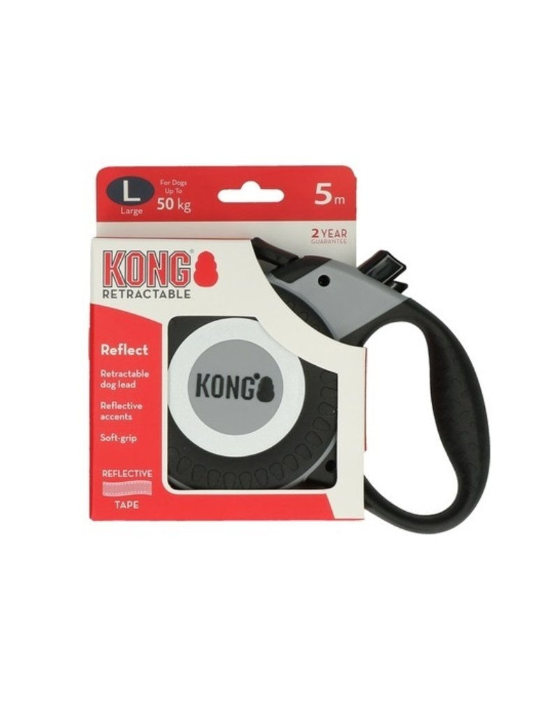 Kong Kong Retractable Leash Reflecterend