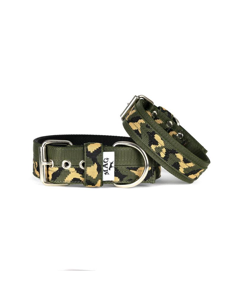 MAG MAG halsband Camouflage met groen