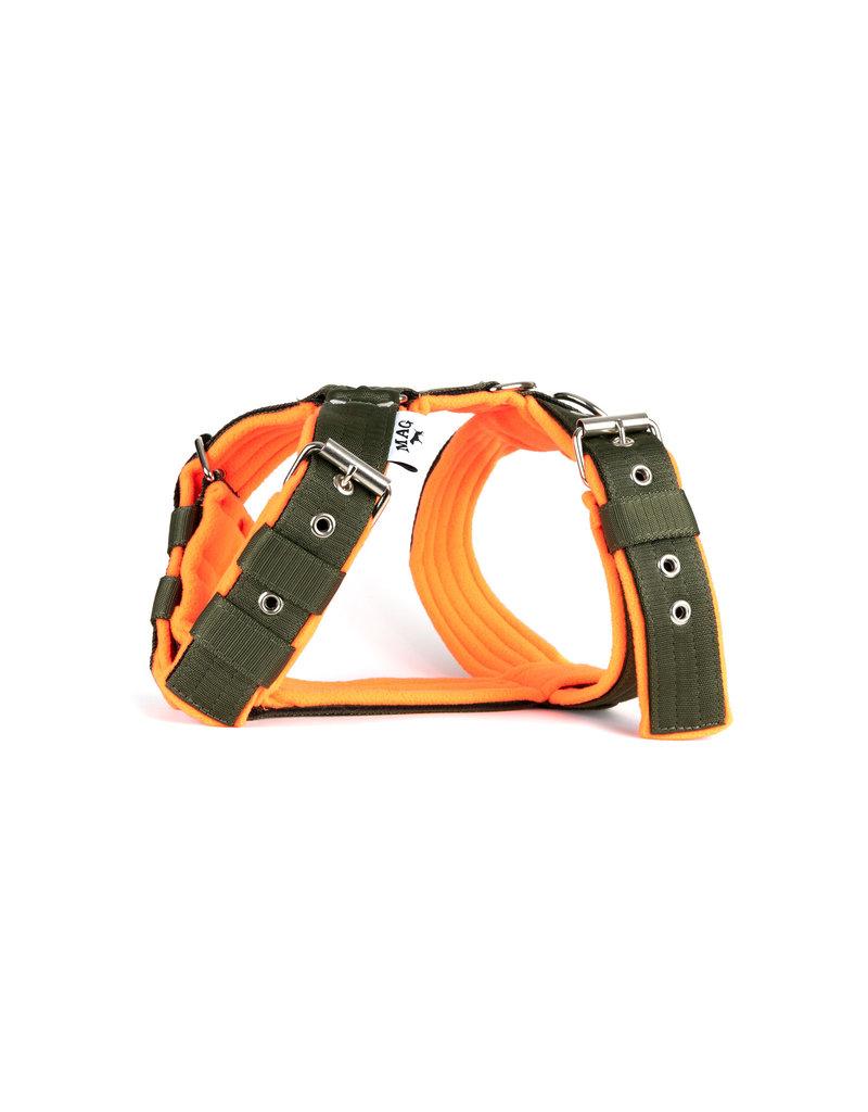 MAG MAG tuig met fleece Legergroen/neon oranje