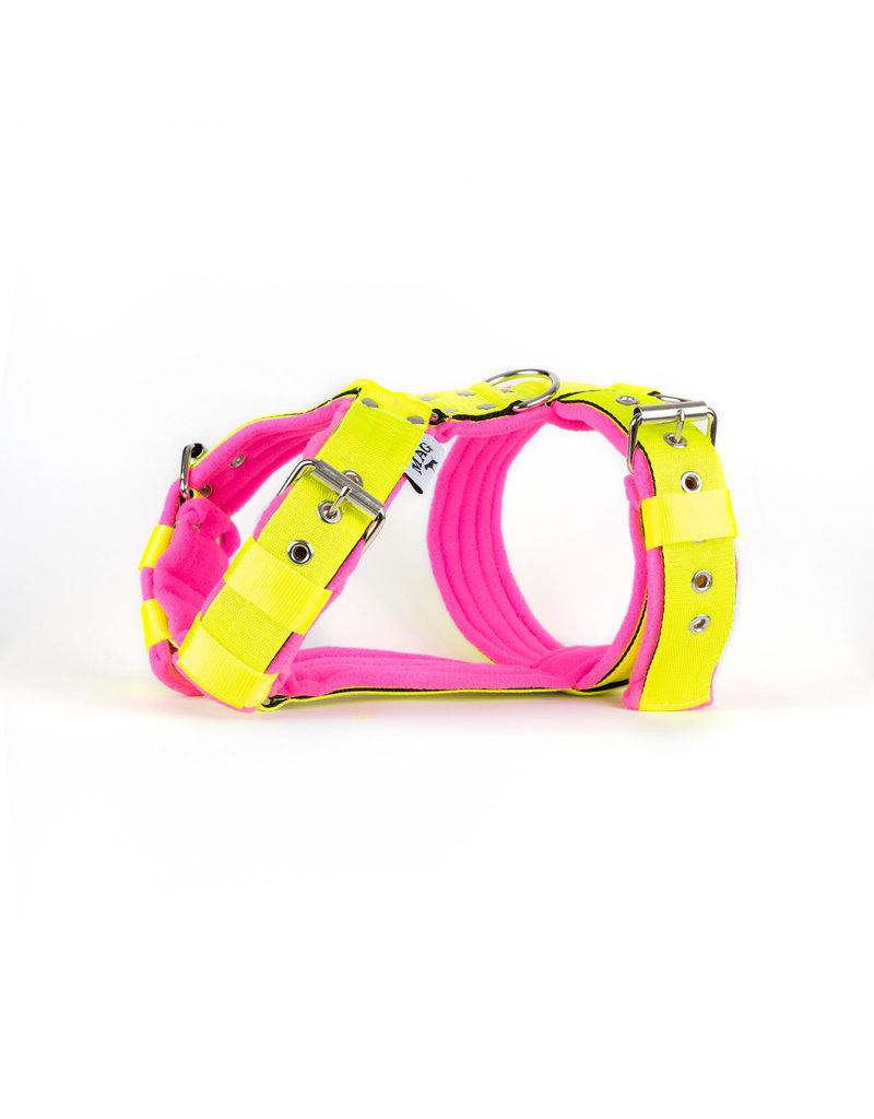 MAG MAG tuig met fleece Neon geel/Neon roze