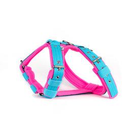 MAG MAG tuig met fleece lichtblauw/ neon roze