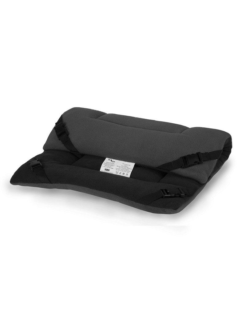 HIK9 HIK9 Omkeerbaar fleece kussen zwart/grijs