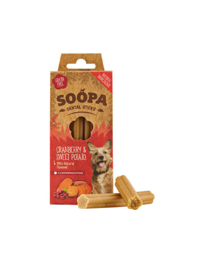 Soopa Soopa Dental Sticks - Cranberry Sweet Potato