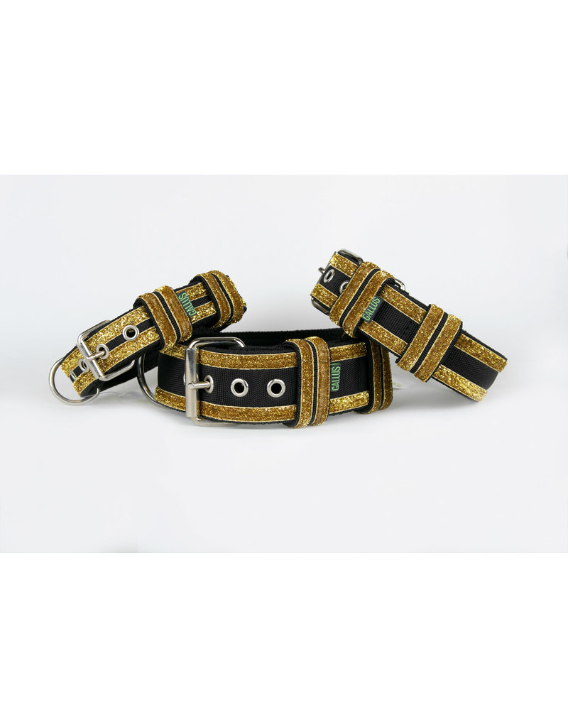 Gallus Gallus halsband Black/Gold