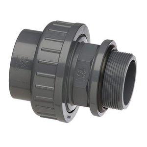 "VDL PVC 3/3 Koppeling Pompaansluiting 50 mm x 2"" buitendraad VDL"
