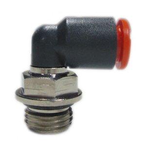 8 mm snelkoppeling 1/4 schroefdraad Knie 90 graden