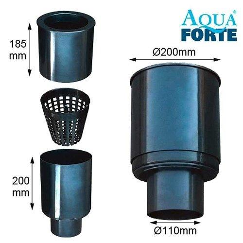 Aquaforte Aquaforte drijvende skimmer Ø200 met korf