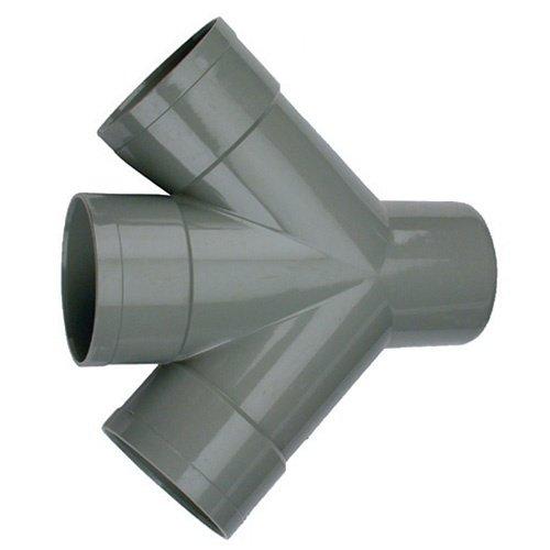 Dubbel T-stuk 45º 3 x mof, 1 x spie 110 mm
