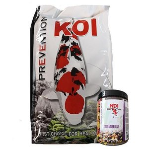 Fish Pharma Fish Pharma Koi Prevention 4,5 mm 5 KG en Koi Muesli 500 gram (actie)