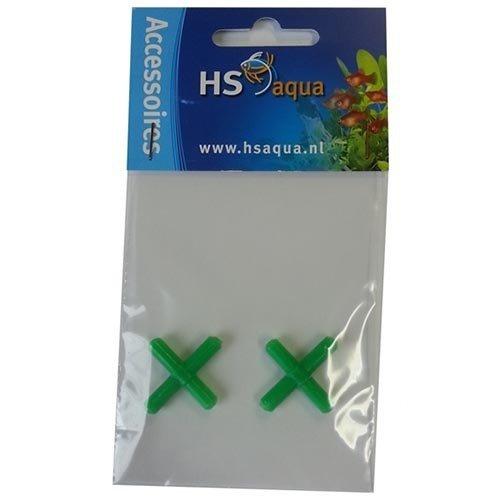 HS Aqua Hs Aqua Kruisstuk Plastic Groen 4-6 per 2 stuks