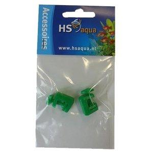 HS Aqua Hs Aqua Slangklem Plastic Groen 4-6 mm 2 stuks