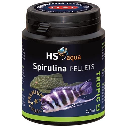 HS Aqua HS Aqua Spirulina Pellets Medium 200 ml