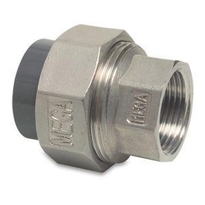 "Mega Overgangs koppeling RVS naar PVC - 50 mm - 1½"" binnendr."